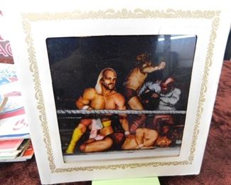 Vintage Wrestling Wall Tile(Mirrored)