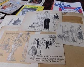 Huge Collection of Original Comic Sketches by Edward Overby(Edwardo) Van Buren Arkansas
