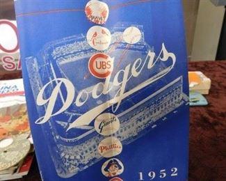 1952 Dodgers Score Card(Unused)