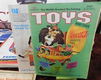 Vintage FAO Schwartz Toy Catalogs