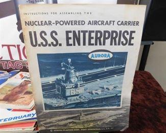 Aurora U.S.S. Enterprise Model Instruction Sheet
