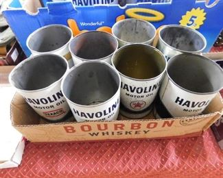 Havoline Oil Cans