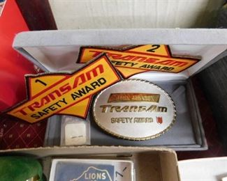 TransAm Safety Award Buckle and Patches