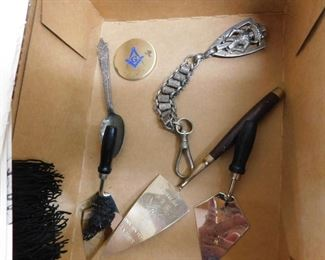 Masonic Trowels and Ephemera