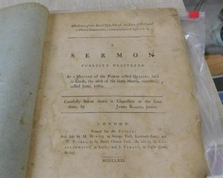1771 Quaker Sermon