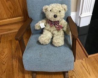 Child's Chair & Teddy Bear