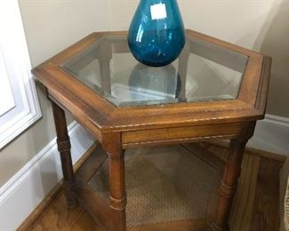 Optical Glass Top Table