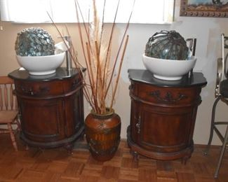 Vanities, Vase, Bar Stool, Glass Fishing Buoys or Floats