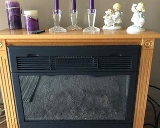Electric fireplace with blower