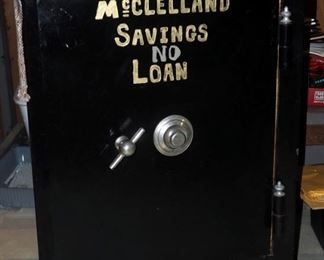 "1863 Sargent And Greenleaf Antique Rolling Combination Safe, 36"" x 25"" x 25"",Working, Combination Is Known"