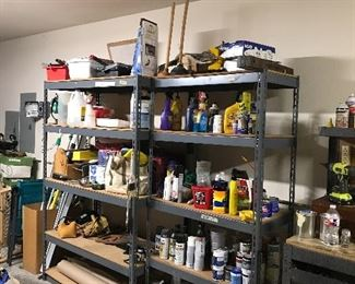 "Two garage shelves - Large W - 48"" x D -24"" and Small W - 36"" x D - 18"""