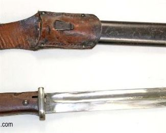 Lot 3: Mauser bayonet with a scabbard 9827