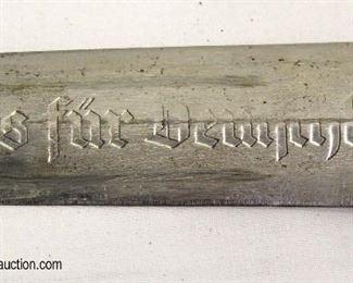 Lot 7: WWII German NSKK dress dagger early made by Carl Heidelberg Solingen