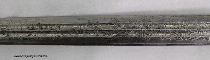 Lot 8: WWII German Navel Officer dress dagger Kriegsmarine EF Horster with lightening bolt scabbard