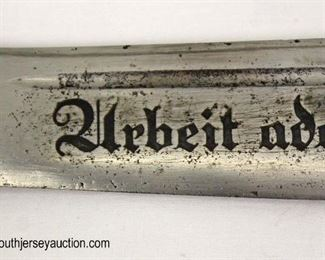 Lot 10: WWII German RAD Boker with scabbard