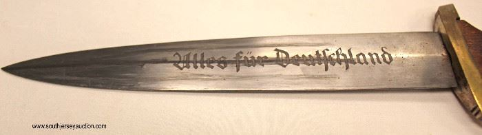 Lot 12: WWII German SA dress dagger marked Nordmark early made by Alcoso Solingen