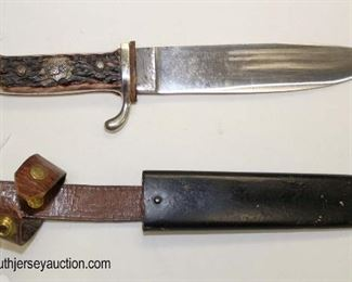 Lot 15: Post war HJ style youth dagger with some modifications with a scabbard Solingen