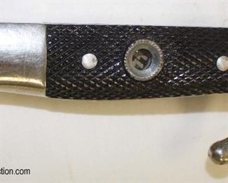Lot 19: German WWII dress bayonet by EF Holler (with applied SS emblem ?) with a frog