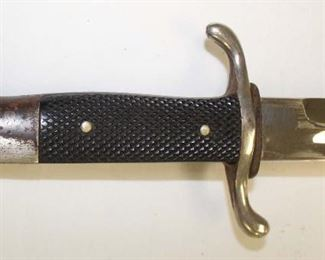 Lot 21: WWII German Fireman's dress dagger double quillion (possible inter-war) with a scabbard