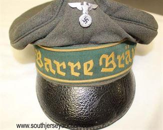 Lot 29: Barre Brau visor cap with political eagle
