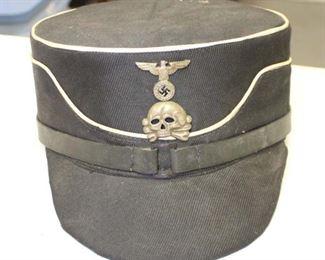 Lot 31: WWII SS Kepi with tag Feldmutz cap