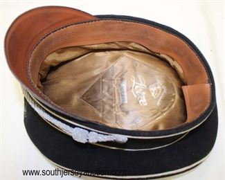 Lot 32: Richard Lotze SS officers crusher cap with reproduction emblems