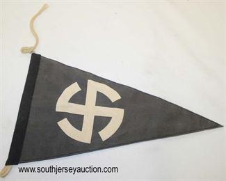 Lot 36: Mobile swastika automobile car pennant