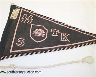 Lot 37: SS car automobile marked TK3 with Hersteller sales tag pennant
