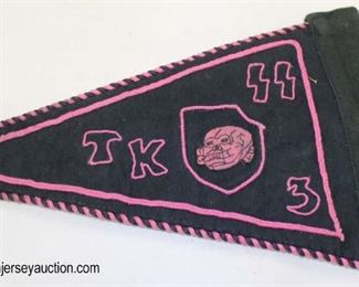 Lot 38: SS car automobile marked TK3 embroidered pennant