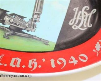 Lot 39: SS Flak-Abteilung marked Rosenthal 1938 hand painted platter LAH