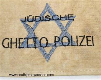Lot 43: Jewish style ghetto polizei arm band