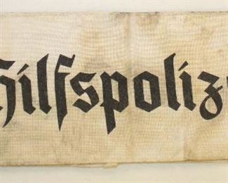 Lot 45: Hilfspolizei style police assistance arm band