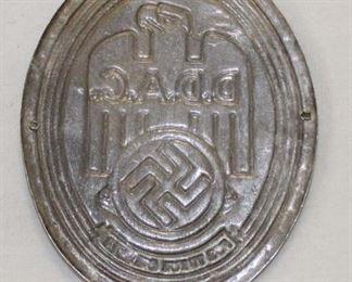 Lot 50: Pre-War DDAC automobile car badge marked for FurTreue Dienste
