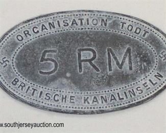 Lot 51: 5RM Organisation Todt Britische Kanalinseln, Ausweis Organisation Todt Britische Kanalinseln, Ausweis Organisation Todt Britische Kanalinsel (lot of 3 identification tags)