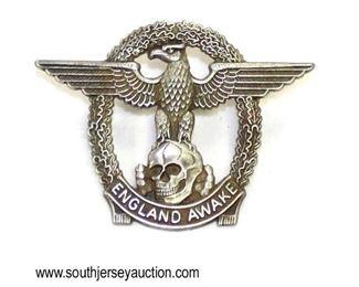 Lot 56: 1960's skin head cap pin – England Awake