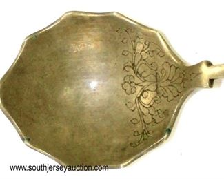 Lot 67: Brass Ladel Philigree Indian