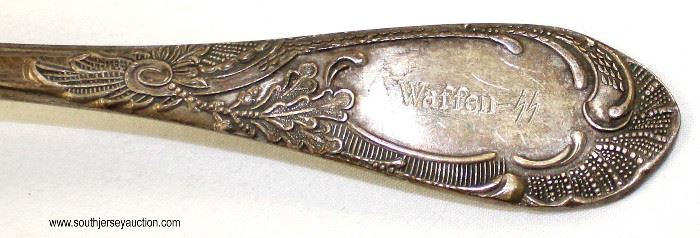 Lot 68: 2 spoons and 1 fork marked SS Reich Waffen (lot of 3)