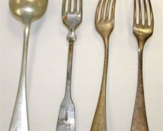 Lot 70: 3 forks and spoon marked Waffen SS (lot of 4)