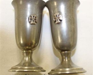 Lot 71: Cordials or Shot Glasses with Iron Cross first class (lot of 2)