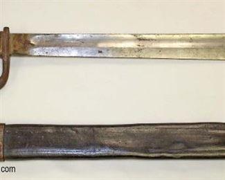 Lot 72: DWM Butcher Blade Bayonet for a Mauser Deutsche Machinenfabrik A-G Duisburg with leather and steel scabbard