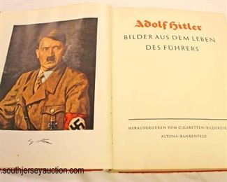 Lot 78: Adolph Hitler Cigarette Card Book with All the cards and remnants of dust jackets