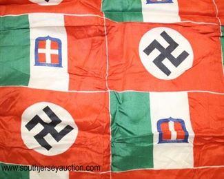 """Lot 89: German Italian Friendship Flag 24""""x24"""""""