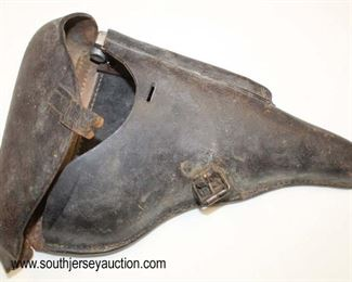 Lot 92: WWII German 1942 PO8 Lugar Holster with take down tool compartment with magazine