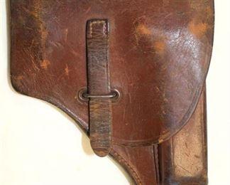 Lot 94: Semi Automatic Pistol Vintage Leather Holster