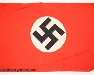 """Lot 101: WWII German small party flag 22"""" x 14"""" double sided"""