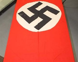 """Lot 104: WWII German 74"""" x 46"""" party flag double sided"""