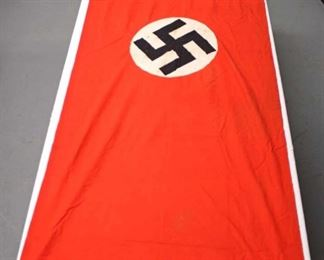 """Lot 109: NSDAP Window Banner/Building Flag approximately 29""""x72"""""""