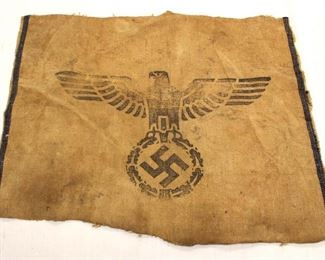 """Lot 113: Part of a German Marked Grain Sack H. Vpfl. 1940 approximately 18""""x14"""""""