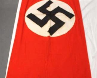 "Lot 114: German NSDAP Window Banner approximately 89""x27"""