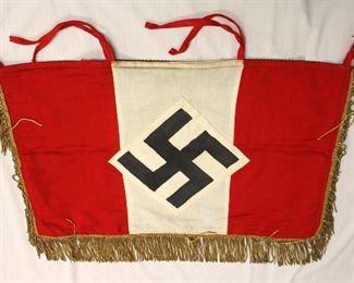 "Lot 117: German 3 Sided Fringed Hitler Jugend Banner approximately 30""x18"""